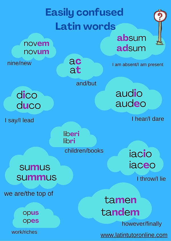 Easily confused Latin words
