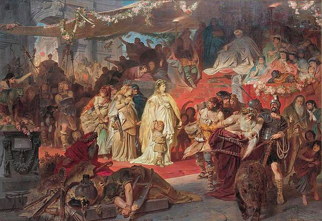 Thusnelda in the Triumphal Procession of Germanicus, as painted by Piloty in the 19th c.