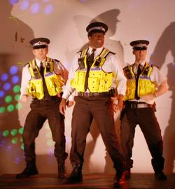 Singing, Dancing Policemen