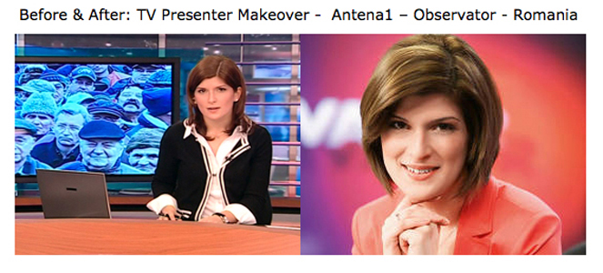 Alina News Presenter Before & After