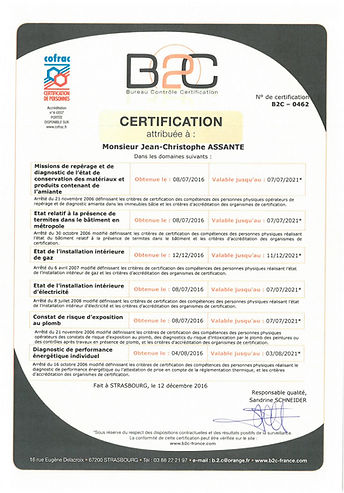 Certification diagnostiqueur immobilier