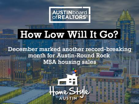 Central Texas December 2020 Housing Statistics