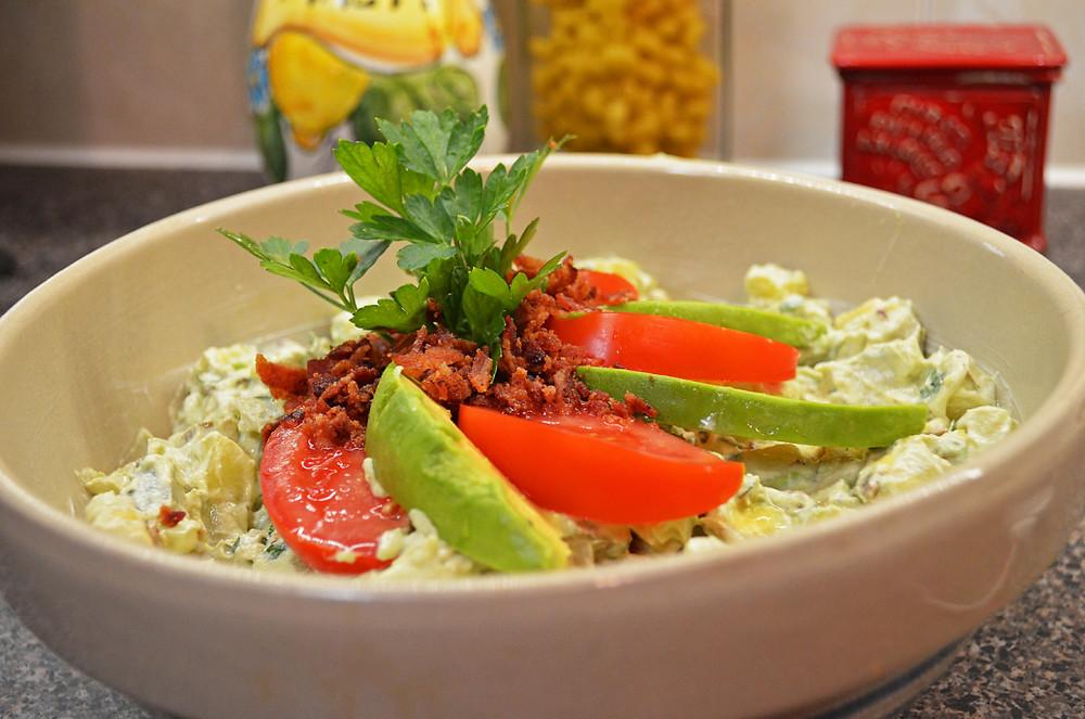 An Avocado Bacon and Potato Salad Recipe by Home Style Austin