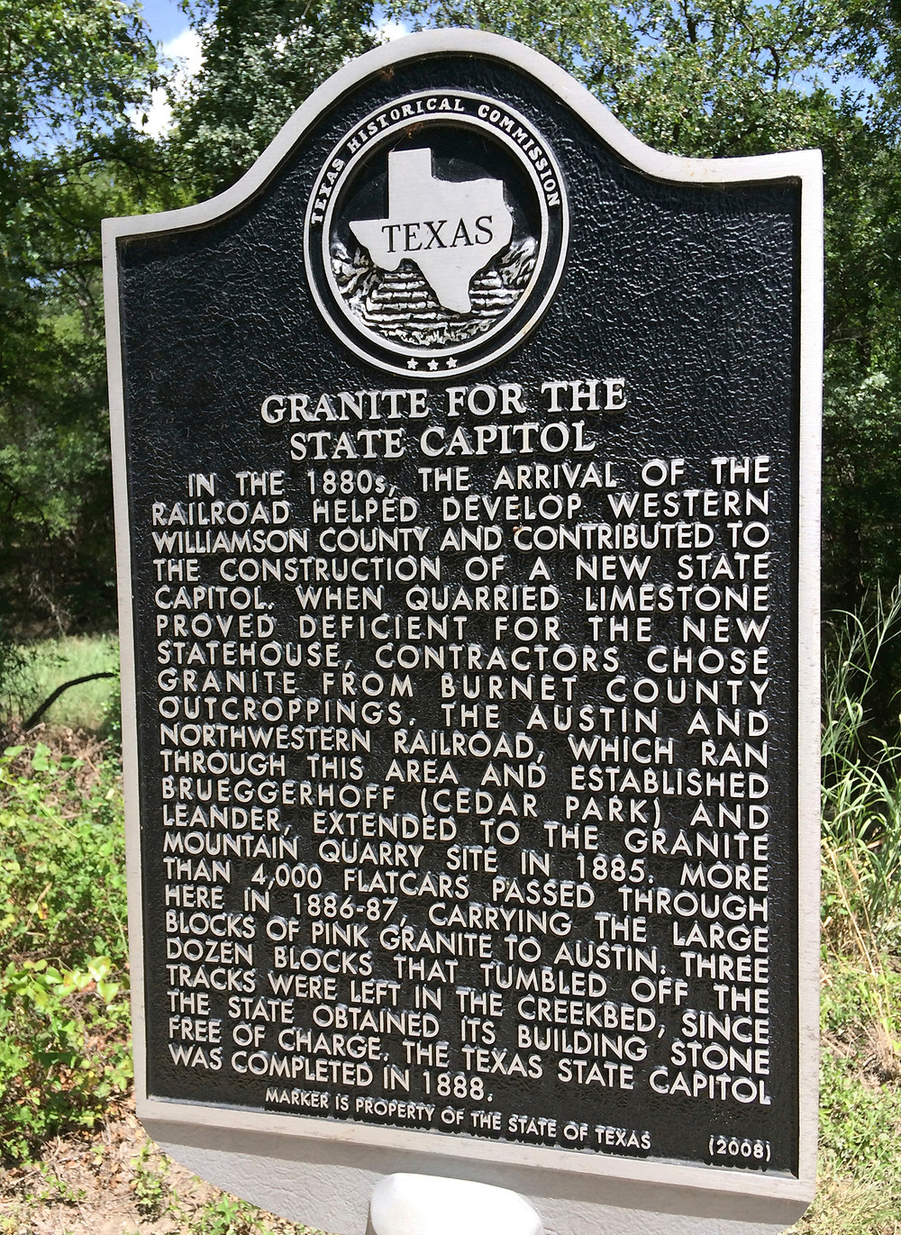 Texas Historical Commission Granite Sign At Brushy Creek
