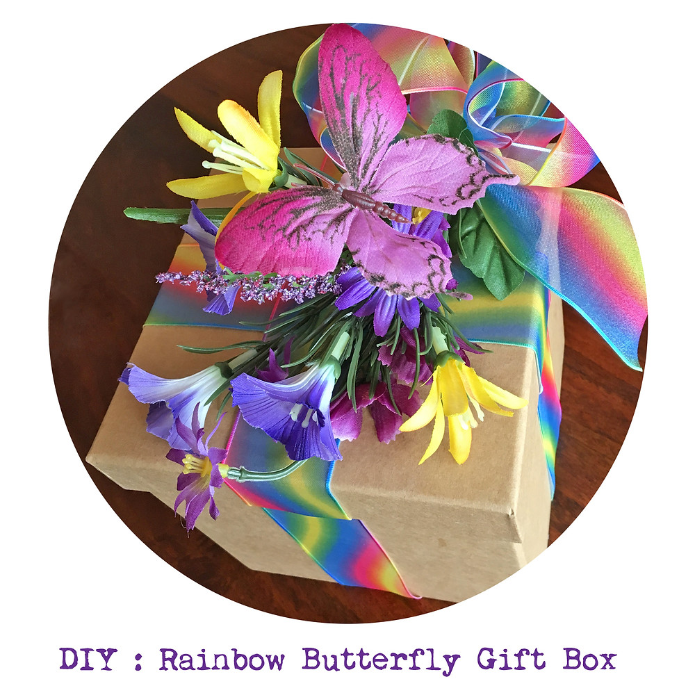 DIY Project : How to make your own rainbow butterfly gift box
