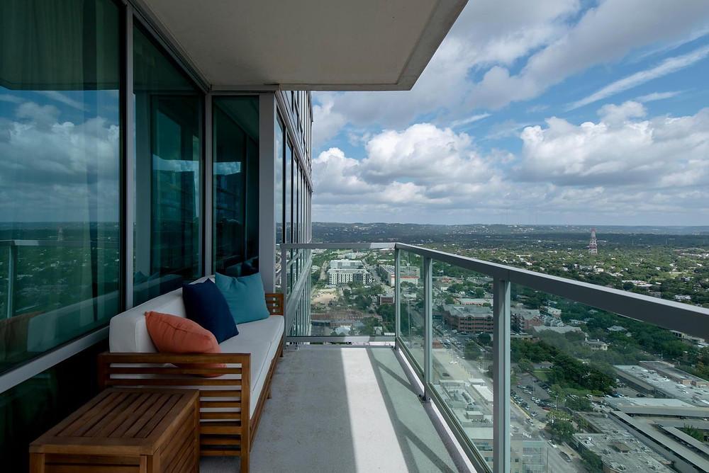 300 Bowie Street Unit 3806 Austin TX 78703 Balcony View