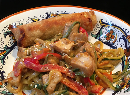 Spicy Thai Chicken And Zoodles