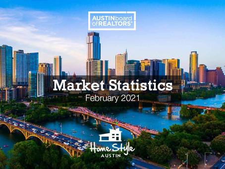 Central Texas February 2021 Housing Statistics