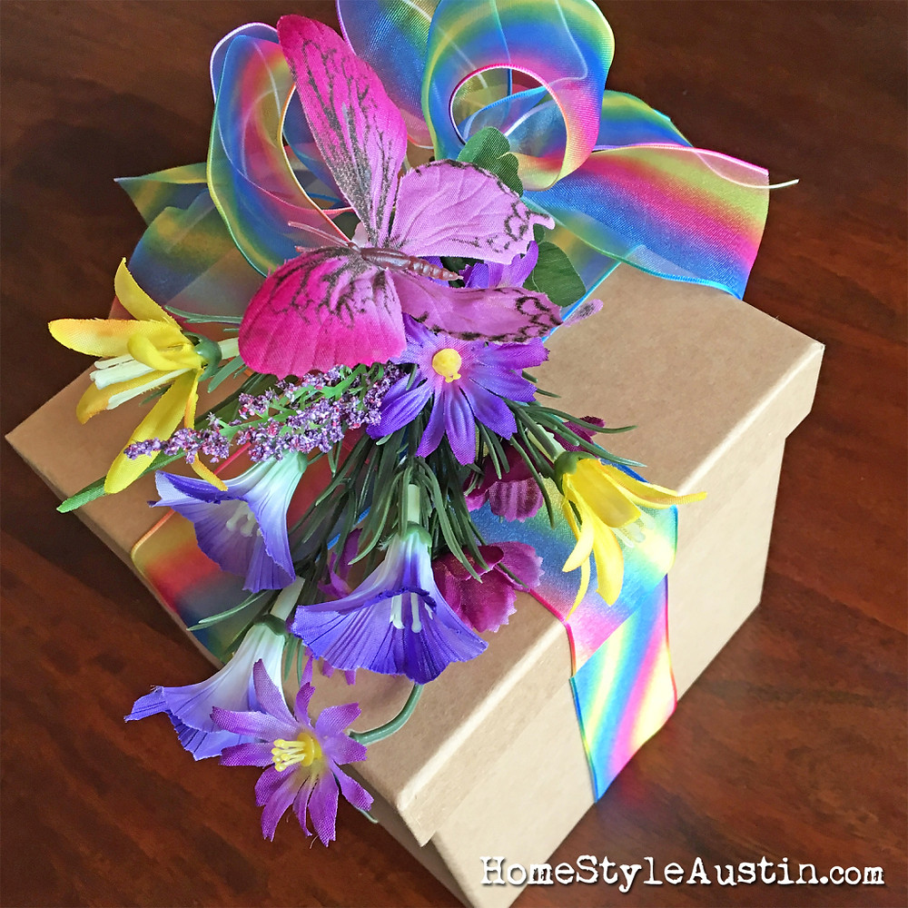 Learn how to make a Rainbow Butterfly Box