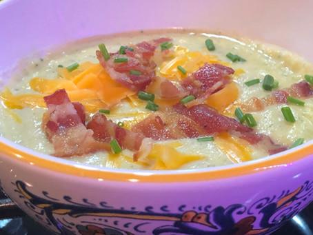 Bacon, Cheese & Cauliflower Soup