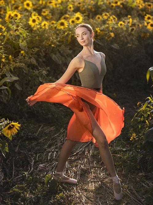 Circle Rehearsal Skirt Burnt Orange