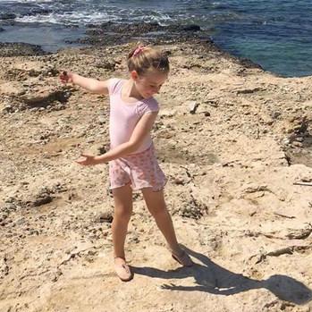 Martha dancing by the sea