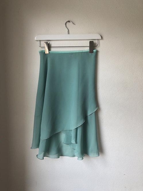 Pistachio Wrap Skirt