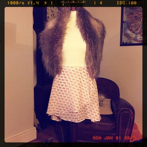 Pink Ribbon Circle Skirt