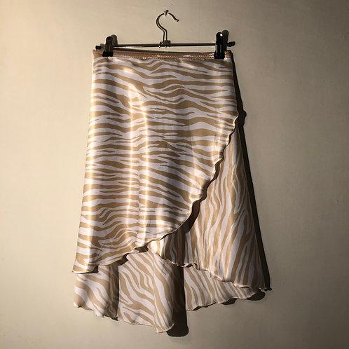 Golden Tiger Wrap skirt, long, small