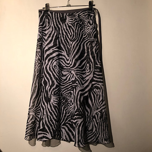 Zebra Extra Long Wrap Skirt, small
