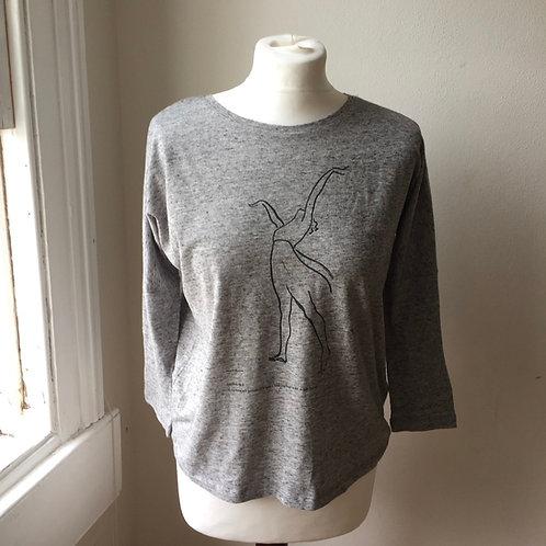 Lopokova No 8 long sleeve t-shirt Grey