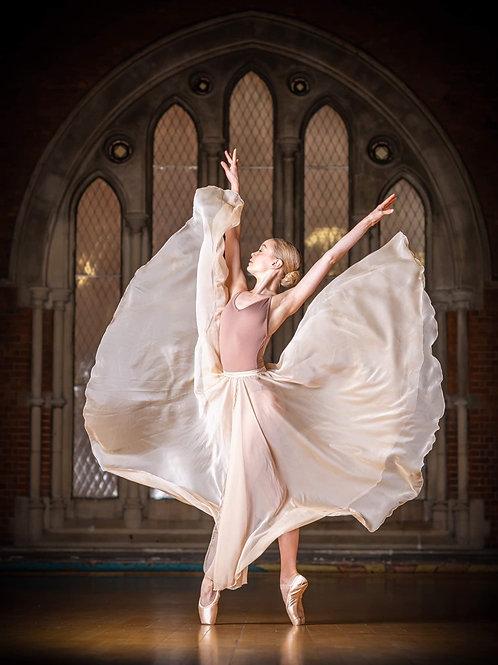 Pale Gold Jessica Full Length Skirt