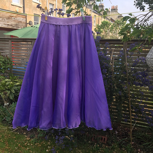 Amethyst two layer rehearsal skirt