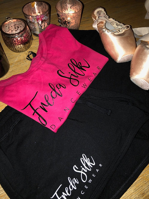 Fitted Crop T-shirt Bright Pink