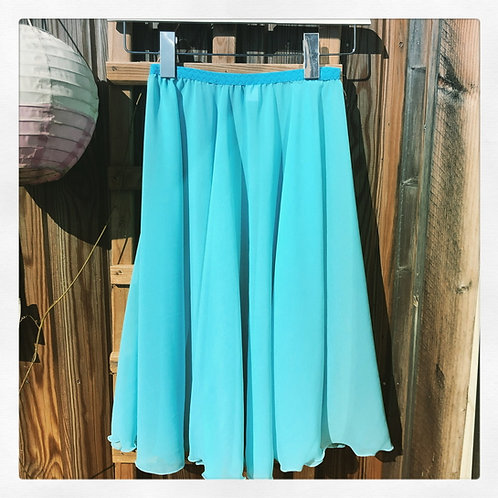 Circle Rehearsal Skirt Tiffany Turquoise