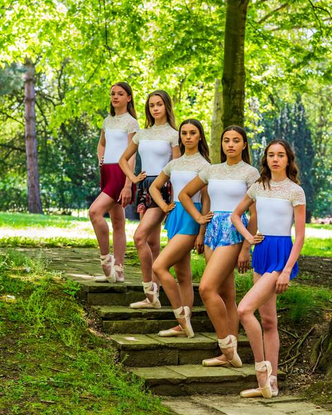 The Girls in Swish SAB skirts