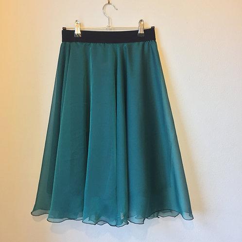 Jade two layer circle skirt