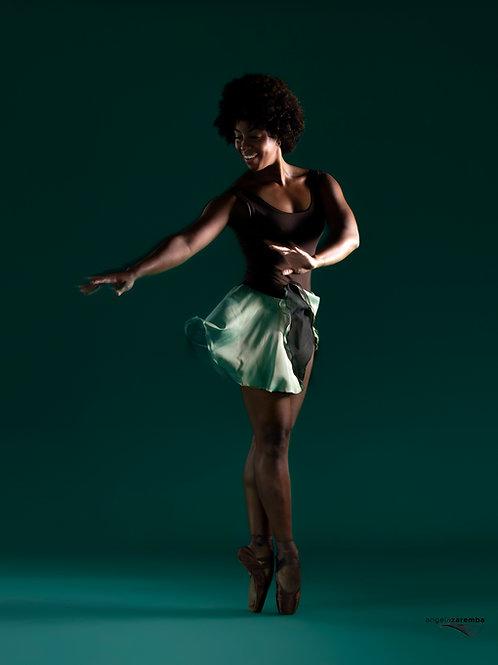 The Echo Chiffon Skirt - mint