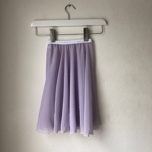 """Pale Lilac Crepe Rehearsal Skirt 18"""" (child)"""