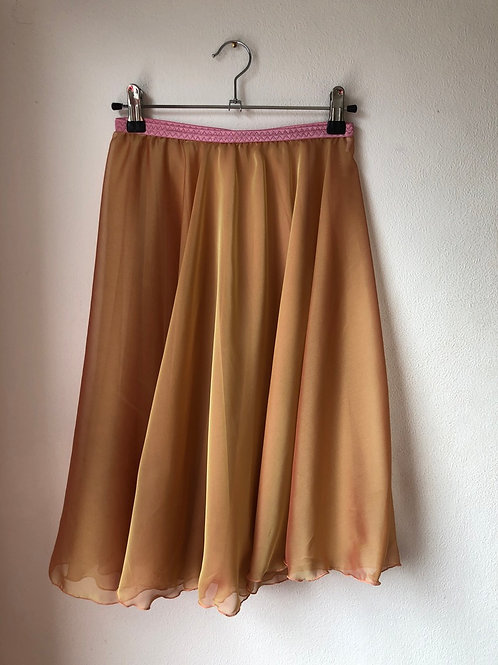 Rose Gold two layer rehearsal skirt