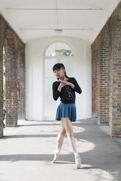 Teal Swish Skirt with black elastic waistband