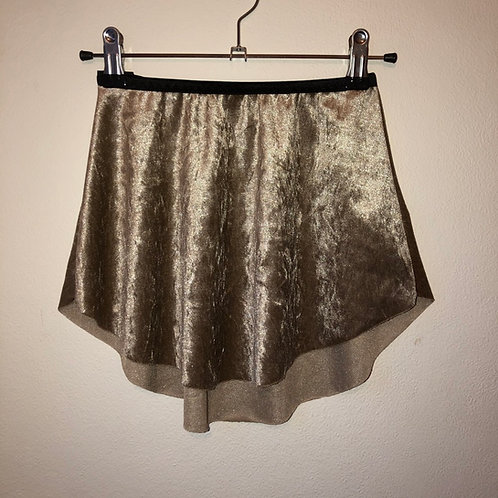 Pale Gold SAB Crushed Velvet with narrow foldover waistband