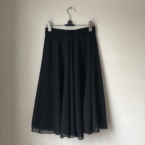 "Black Chiffon Rehearsal Skirt 26"""