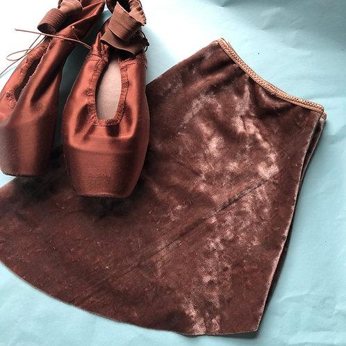 Mink SAB Crushed Velvet | narrow foldover waistband