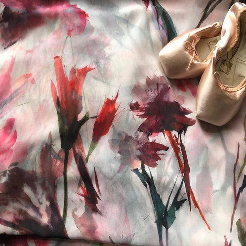 Inked Flowers Rehearsal Skirt