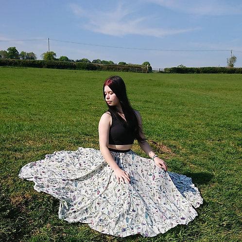 Wild Flowers Aretha full length skirt