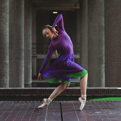 Purple Rain two layer rehearsal skirt