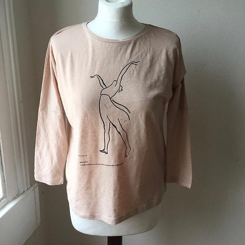 Lopokova No 8 long sleeve t-shirt Blush