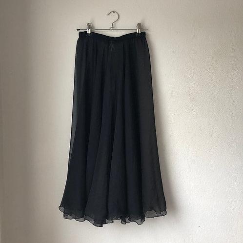 """Black Iridescent Rehearsal Skirt 24"""" - longer length"""