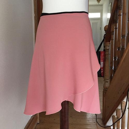 Opaque wrap skirt