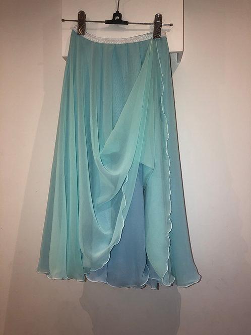 Aquamarine two layer rehearsal skirt