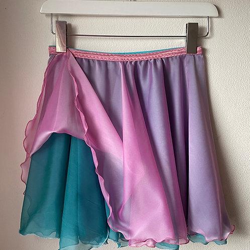 The Echo Chiffon Skirt - candy blue