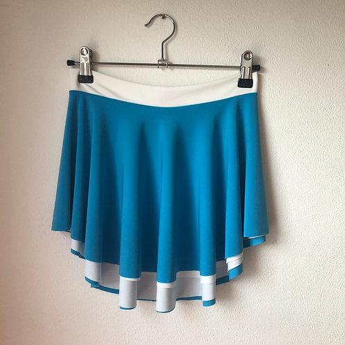 Reversible SAB Skirt Light Blue and Cream