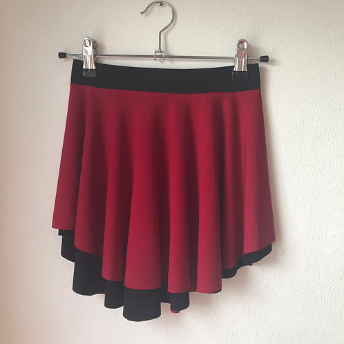 Reversible SAB Skirt Black and Red