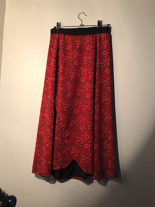 Red Flower Chiffon - medium 28""