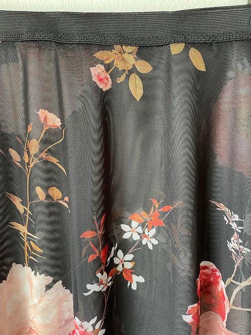 The Bela Flora Curve Skirt - long