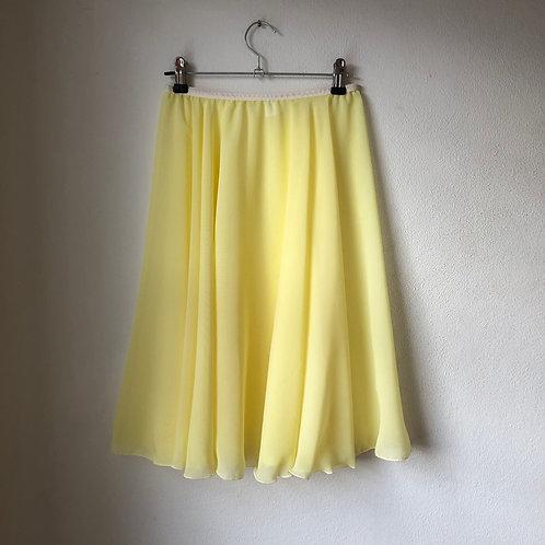Circle Rehearsal Skirt Lemon Yellow