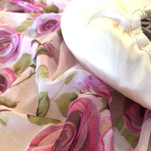Rose Mesh Wrap Skirt