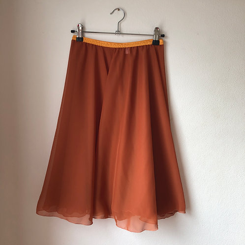 Circle Rehearsal Skirt Rust