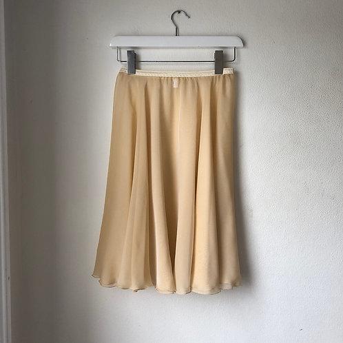 "Pale Gold Iridescent Rehearsal Skirt 26"""